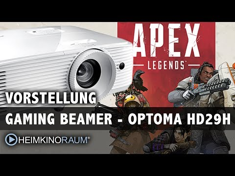 GAMING auf dem Beamer? 8,4ms Input Lag! 120Hz! Apex Legends! Wir testen den Optoma HD29H!