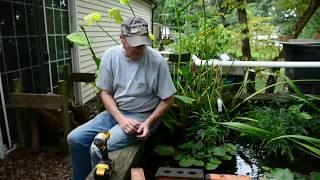 Repairing a Water Garden Leak