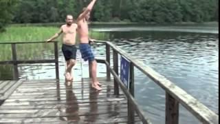 Подскользнулся  D или новый вид как прыгнуть в воду