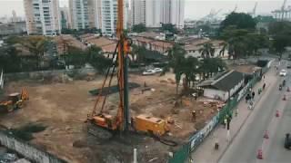 Nova via é liberada e obras estruturais são iniciadas na Ponta da Praia, em Santos