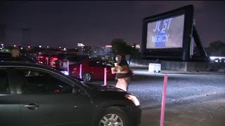 Newark's pop-up drive-in movie theater debut