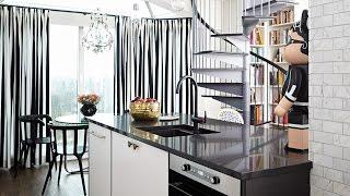 Interior Design —Small Black & White Fashion-Inspired Open-Concept Condo Makeover