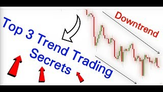 Top 3 Trend Trading Secrets / How To TRADE Trending MARKETS / With Rules Based Trading