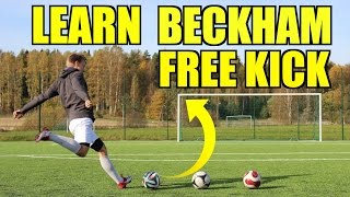 How to Bend it like Beckham - Curve Free Kick Tutorial by Ilaripro