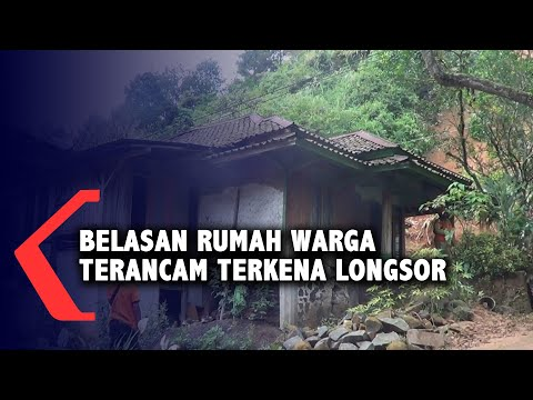 belasan rumah warga terancam terkena longsor