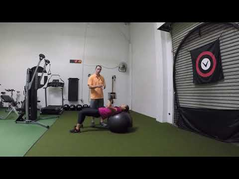 Physioball Single Arm Dumbbell Chest Press