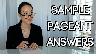 10 Essential Pageant Questions And Sample Answers