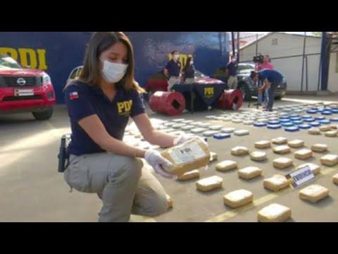 Detienen en Chile a 7 personas con más de 220 kilos de droga