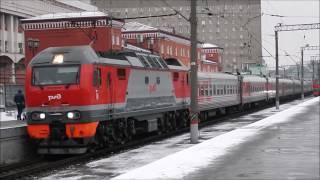 ЭП2к-314 с фирменным поездом №57 Йошкар Ола - Москва прибывает на Казанский Вокзал