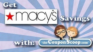 How To Save Money at Macys.com with TheCouponScoop.com- Macy's Promo Codes-