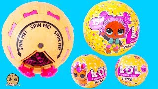 Spin POP Surprise LOL Doll Series 3 Confetti Blind Bag Ball + Pets Toy Video