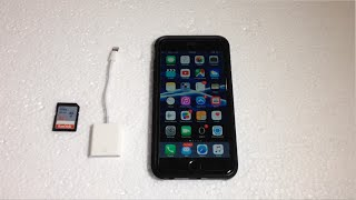 Unboxing & Demo of the Apple Lighting SD Card adapter