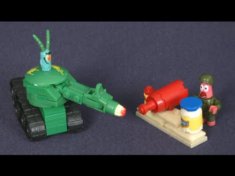 Spongebob Sponge Out Of Water Pickle Tank Attack From Mega Bloks