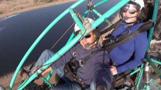 preview picture of video 'Martha and Dana riding a Powered Parachute'