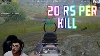 20 rs per kill challenge | carryislive | pubg mobile highlights