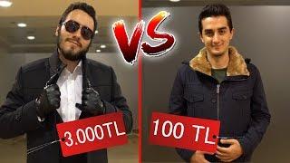 100 TL VS 3000 TL KIYAFET ALIŞVERİŞİ #Bunadeğermi
