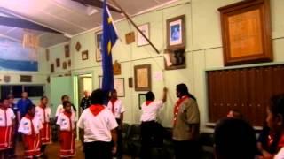nauru/ozie - nauru scout final flag lowering ceremony