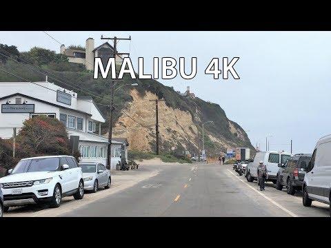 Driving Downtown - Malibu Billionaire's Beach 4K - USA