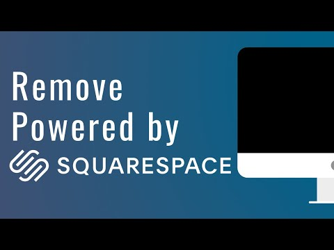How to Remove Powered by Squarespace from your Website