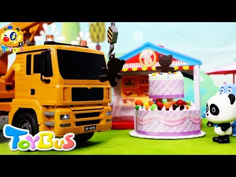 Baby Panda's Cake Competition | Play Doh Rainbow Cake, Bear Cake | Kitchen Playset for Kids | ToyBus