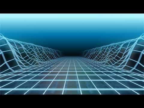 VJ LOOP - Blue synthwave