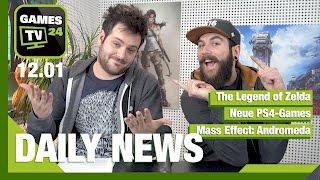 The Legend of Zelda, frische PS4-Games, Mass Effect: Andromeda | Games TV 24 Daily - 12.01.2017