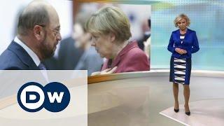 Усидит ли Ангела Меркель в кресле канцлера, или Who is Mr. Schulz - DW Новости (25.01.2017)
