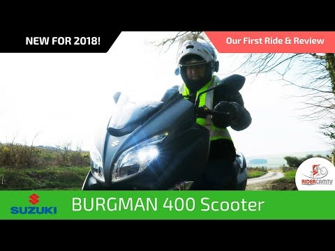 2018 Suzuki Burgman Scooter   Our First Ride and Review