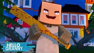Minecraft HELLO GRANNY - THE BEGIINING OF SOMETHING REALLY FREAKY!!