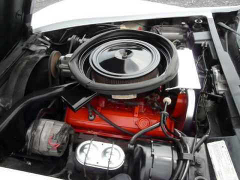 1975 White Corvette Stingray T Top Red Int Video
