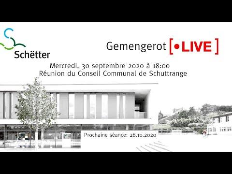 , title : 'Livestream vum Schëtter Gemengerot vum 30.09.2020