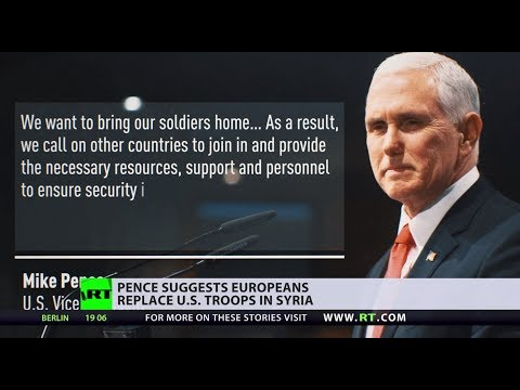 Pence suggests Europeans replace US troops in Syria
