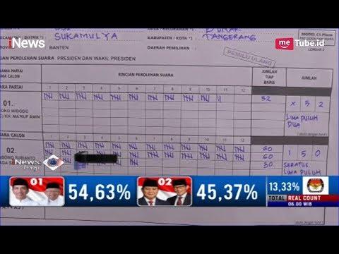 KPU Kabupaten Tangerang Gelar Pemilihan Ulang, Pasangan 02 Unggul 150 Suara - iNews Pagi 22/04