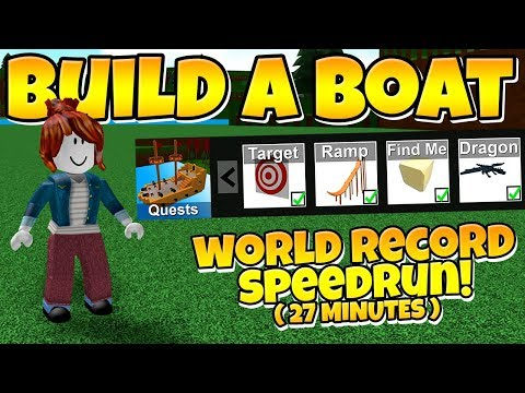 Build a Boat WORLD RECORD SPEEDRUN! 💨 ( 100% Completion )