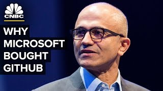 Satya Nadella Talks Microsoft GitHub Acquisition | CNBC