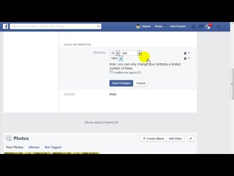 How to Change Birthday On Facebook