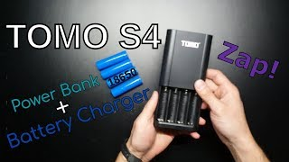 TOMO S4 Battery Charger Review; 18650 Power Bank + Charger