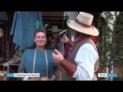 Wittelsheim : au marché de Noël du village cowboy