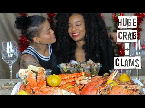 Seafood Boil Mukbang FEAT TAE'S CAJUN SPICY BUTTER SAUCE RECIPE (King Crab/Blue Crab/Clams)