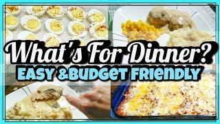 What's For Dinner | Easy Budget Friendly Meals| Weeknight Meals