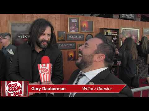 Popcorn Talk at the Annabelle Comes Home Red Carpet Premiere - Gary Dauberman