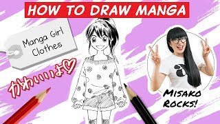 How To Draw Manga Girls Clothes! Part 1. Step By Step.