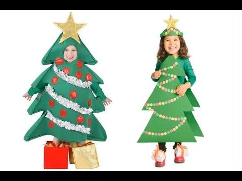 Disfraces de árbol de navidad para niños - #Halloween