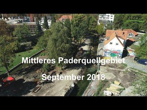 Flugvideo vom mittleren Paderquellgebiet aus dem September 2018