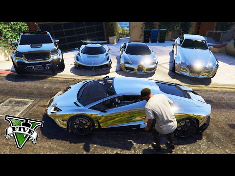 GTA 5 - Stealing Luxury Cars with Franklin! | (GTA V Real Life Cars #37)