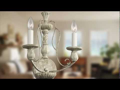 Video for Hayman Bay Four-Light Distressed Antique White Foyer Mini Chandelier