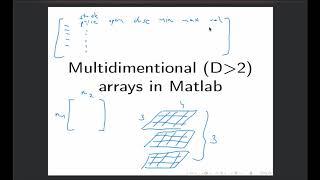 Intro to MATLAB - Week 2 - Multidimensional arrays