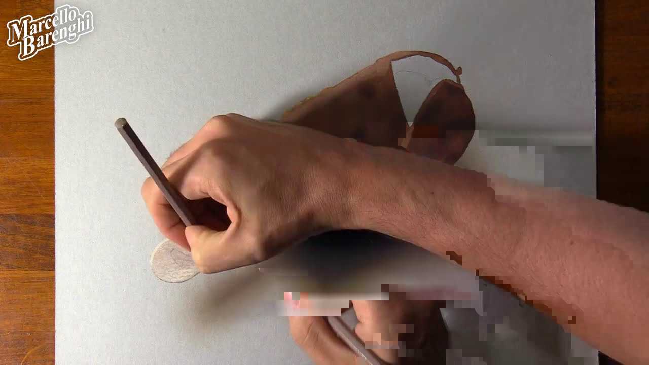 3d painting chocolate icecream by marcello barenghi