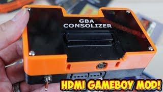Game Boy Advance HDMI Mod   GBA Consolizer Review! Mini Game Boy Console!