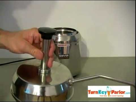 Hot Fudge Topping Dispenser with Pump Model SFP